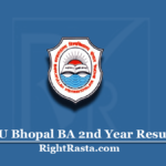 BU Bhopal BA 2nd Year Result 2020 (Out) | Barkatullah University B.A. Second Results