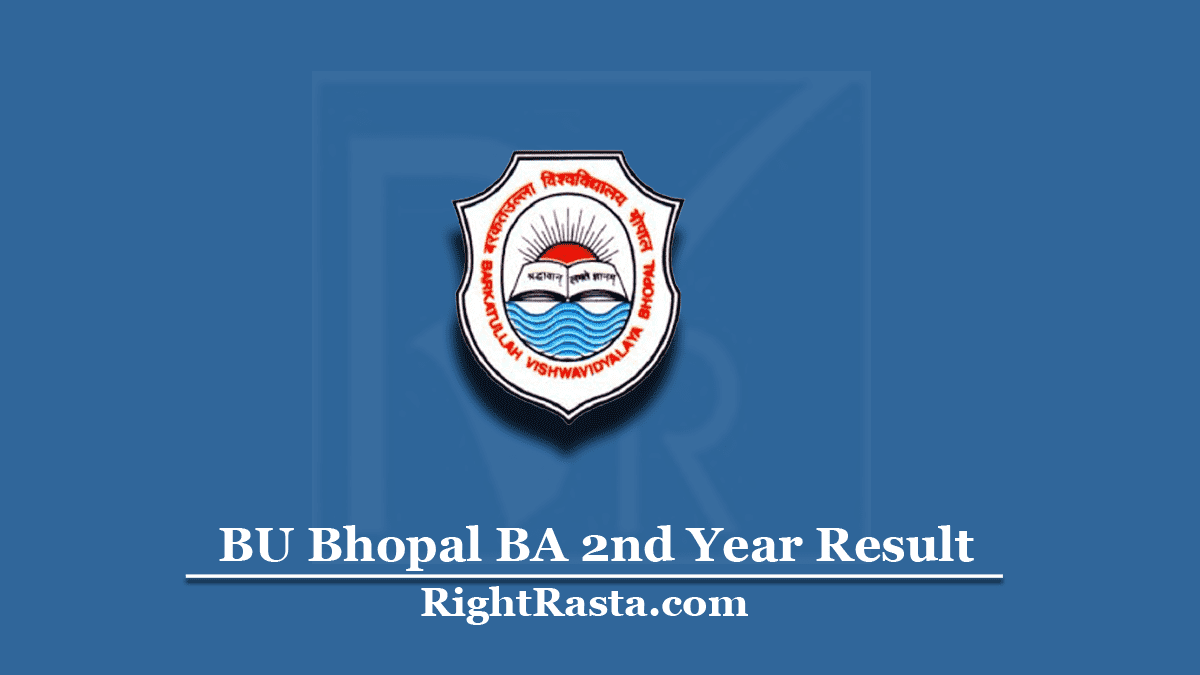 BU Bhopal BA 2nd Year Result