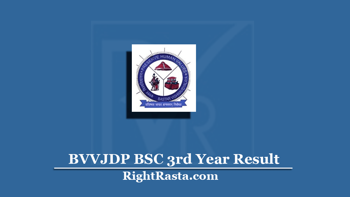 BVVJDP BSC 3rd Year Result