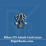 Bihar ITI Admit Card 2020 (Out) | Download ITICAT Entrance Exam Hall Ticket