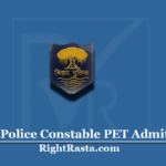 Bihar Police Constable PET Admit Card 2020 (Out) | Download CSBC PT Call Letter