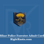 Bihar Police Forester Admit Card 2020 (Out) | Download CSBC Vanpal Hall Ticket