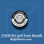 CSJM BA 3rd Year Result 2020 (Out) | Download Kanpur University B.A Results