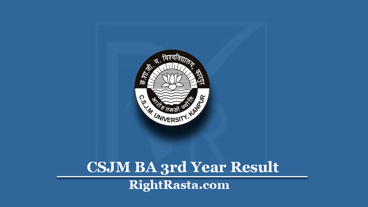CSJM BA 3rd Year Result