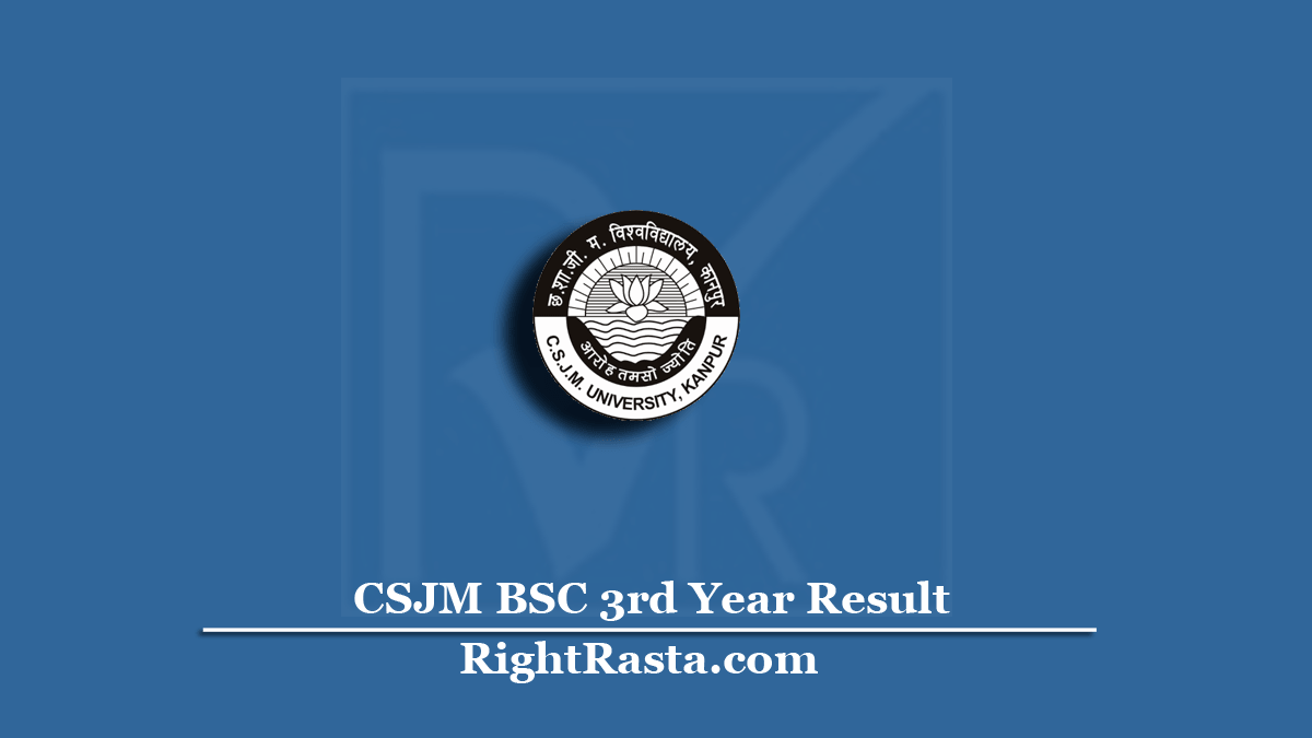 CSJM BSC 3rd Year Result