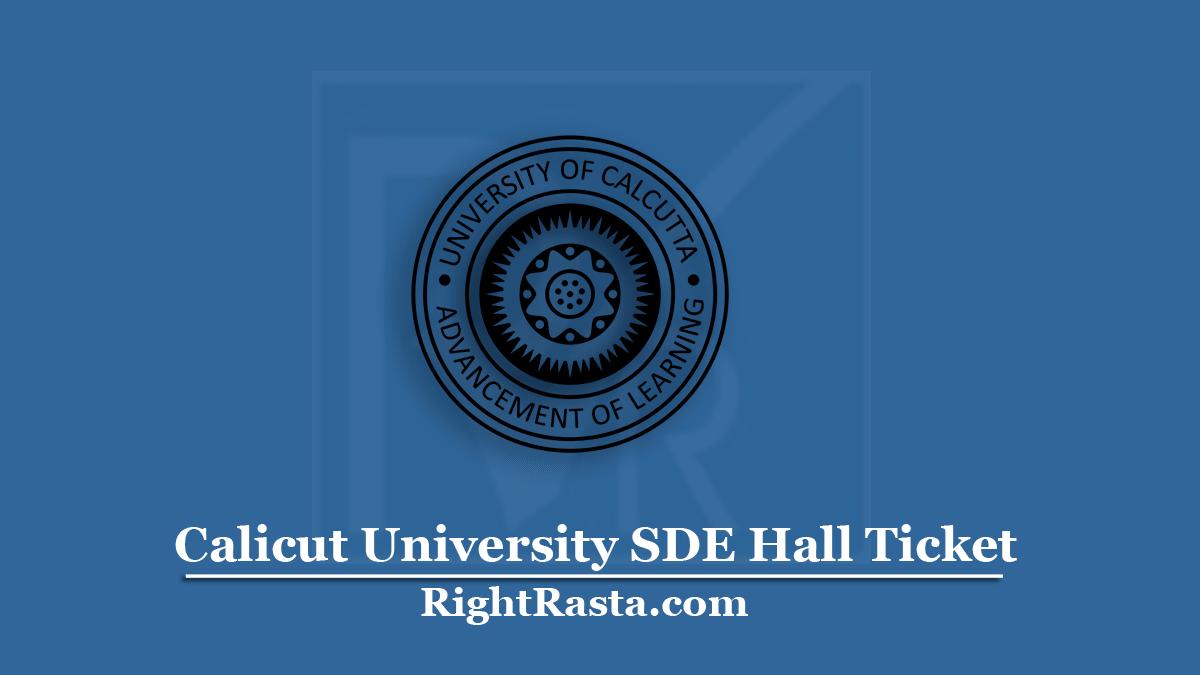 Calicut University SDE Hall Ticket