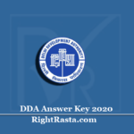 DDA Answer Key 2020 (Out) | Download Patwari Stenographer SO & Other Exam Key