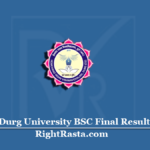 Durg University BSC Final Result 2020 (Out) | Download HCY B.SC 3rd Year Result