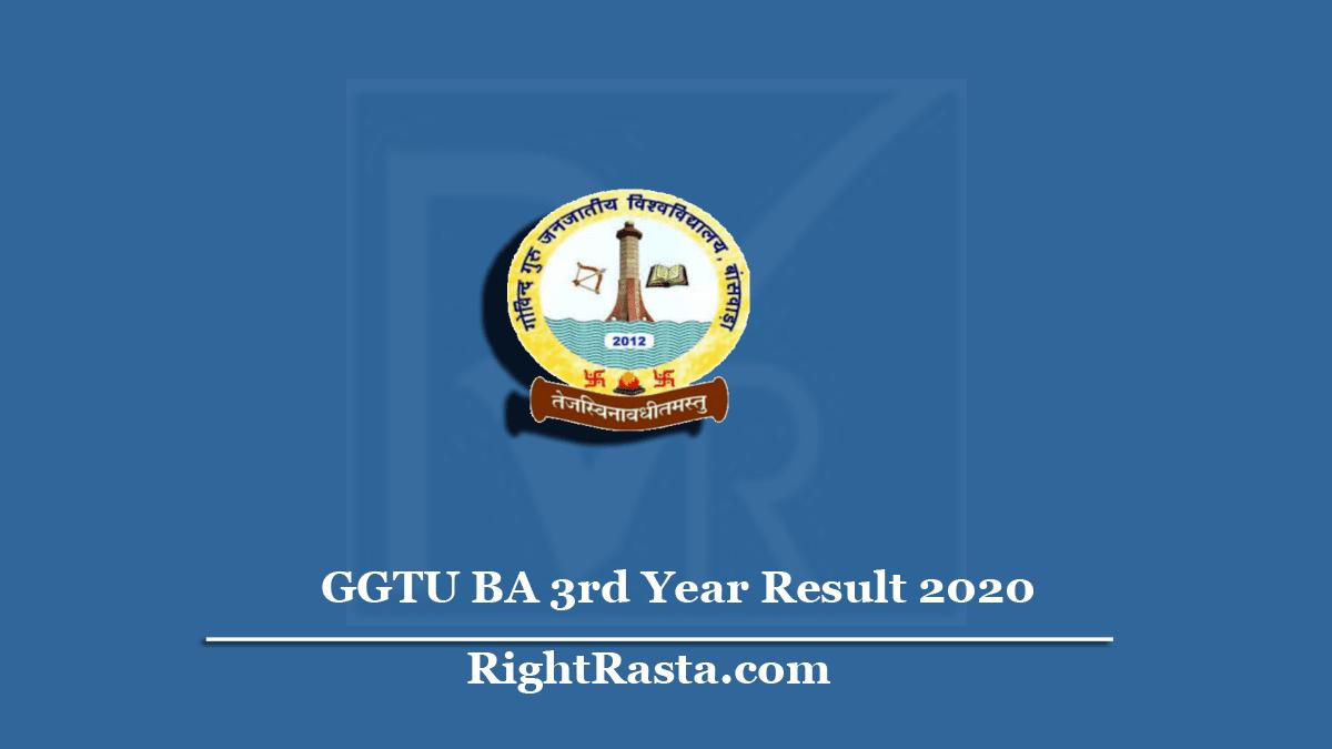 GGTU BA 3rd Year Result