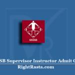 GSSSB Supervisor Instructor Admit Card 2020 (Out) | Download Hall Ticket