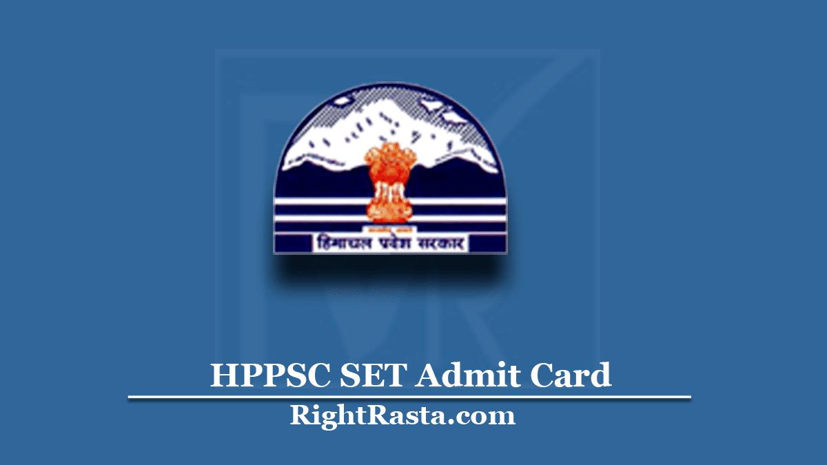 HPPSC SET Admit Card