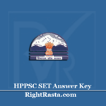 HPPSC SET Answer Key 2020 (Out) | Download HP State Eligibility Test Exam Key