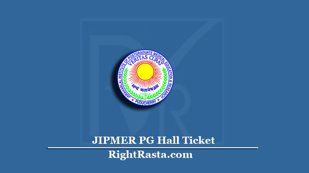 JIPMER PG Hall Ticket