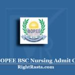 JKBOPEE BSC Nursing Admit Card 2020 (Out) | Download JK CET B.Sc Hall Ticket