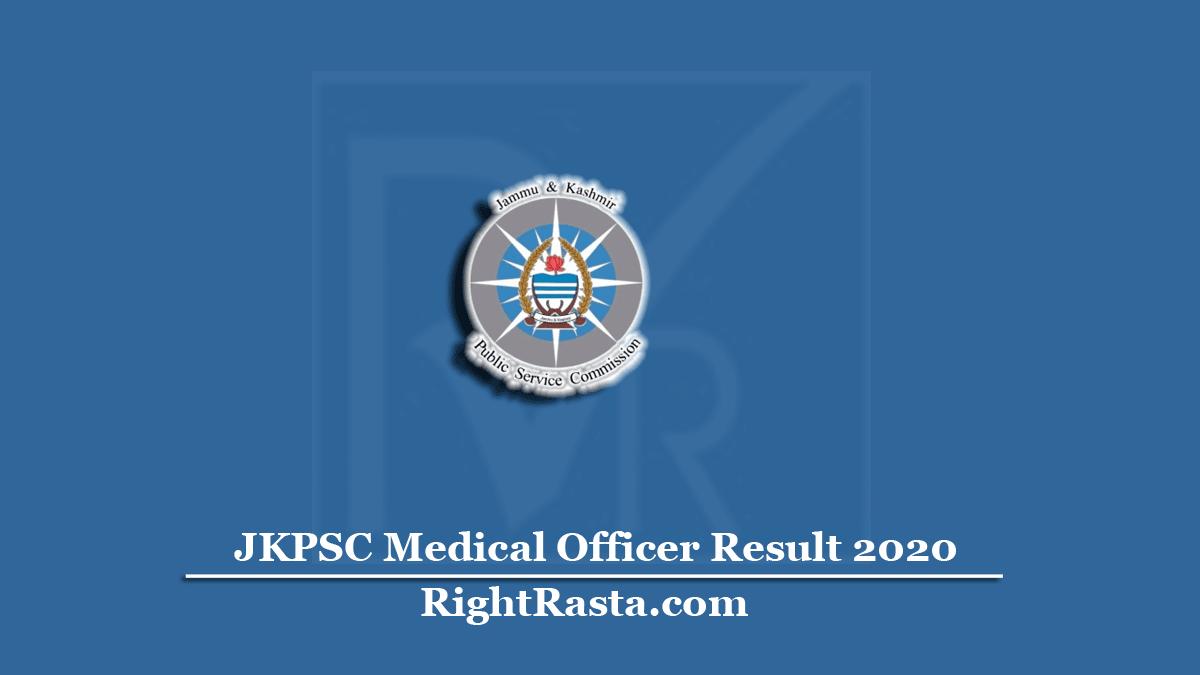 JKPSC Medical Officer Result