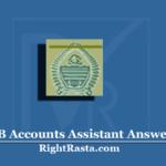 JKSSB Accounts Assistant Answer Key 2020 (Out) | JK PanchayatAccountant Key PDF