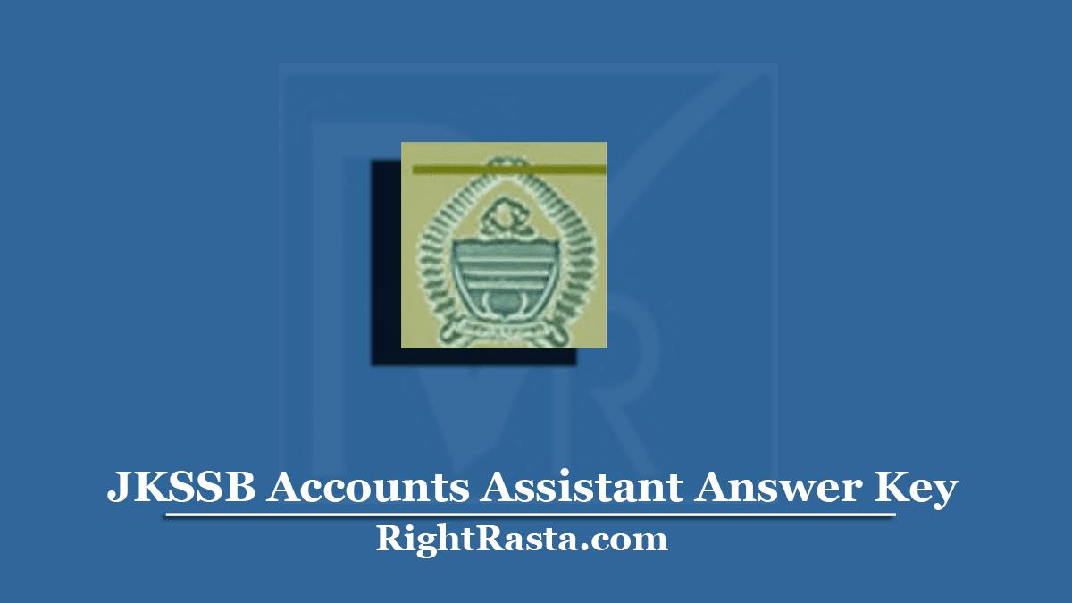 JKSSB Accounts Assistant Answer Key