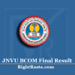 JNVU BCOM Final Result 2020 (Out) | Download B.Com 3rd Year Results