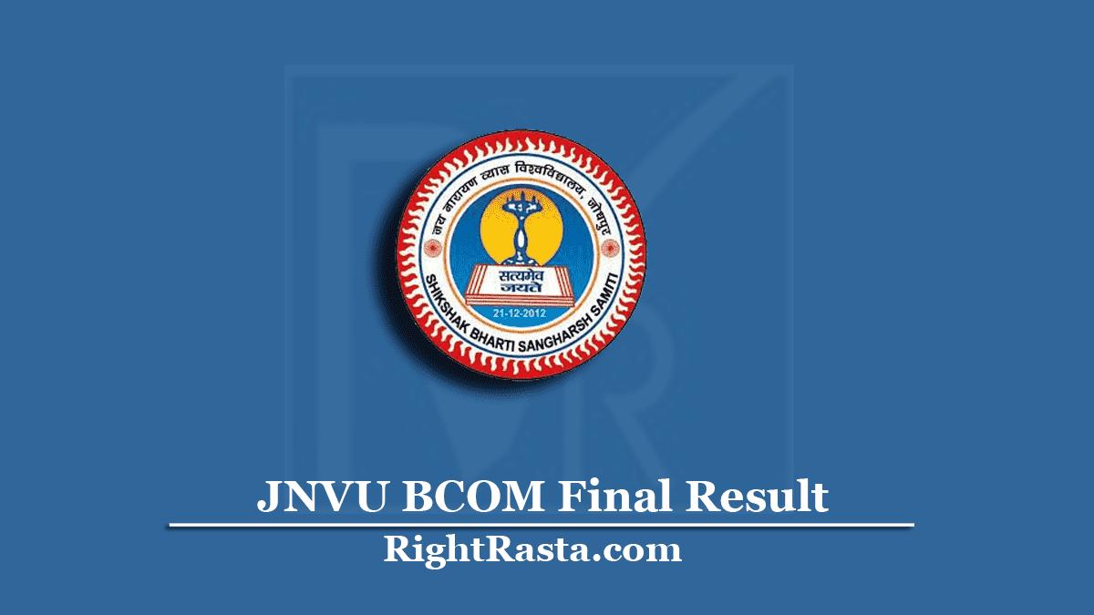 JNVU BCOM Final Result
