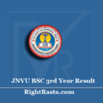 JNVU BSC 3rd Year Result 2020 (Out) | Download B.SC Final (Part 3) Results 2019-20