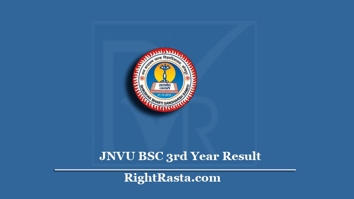 JNVU BSC 3rd Year Result