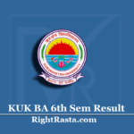 KUK BA 6th Sem Result 2020 (Out) | Kurukshetra University B.A Semester 6 Results