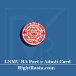 LNMU BA Part 2 Admit Card 2020 (Out) | Download UG B.A Part II Hall Ticket