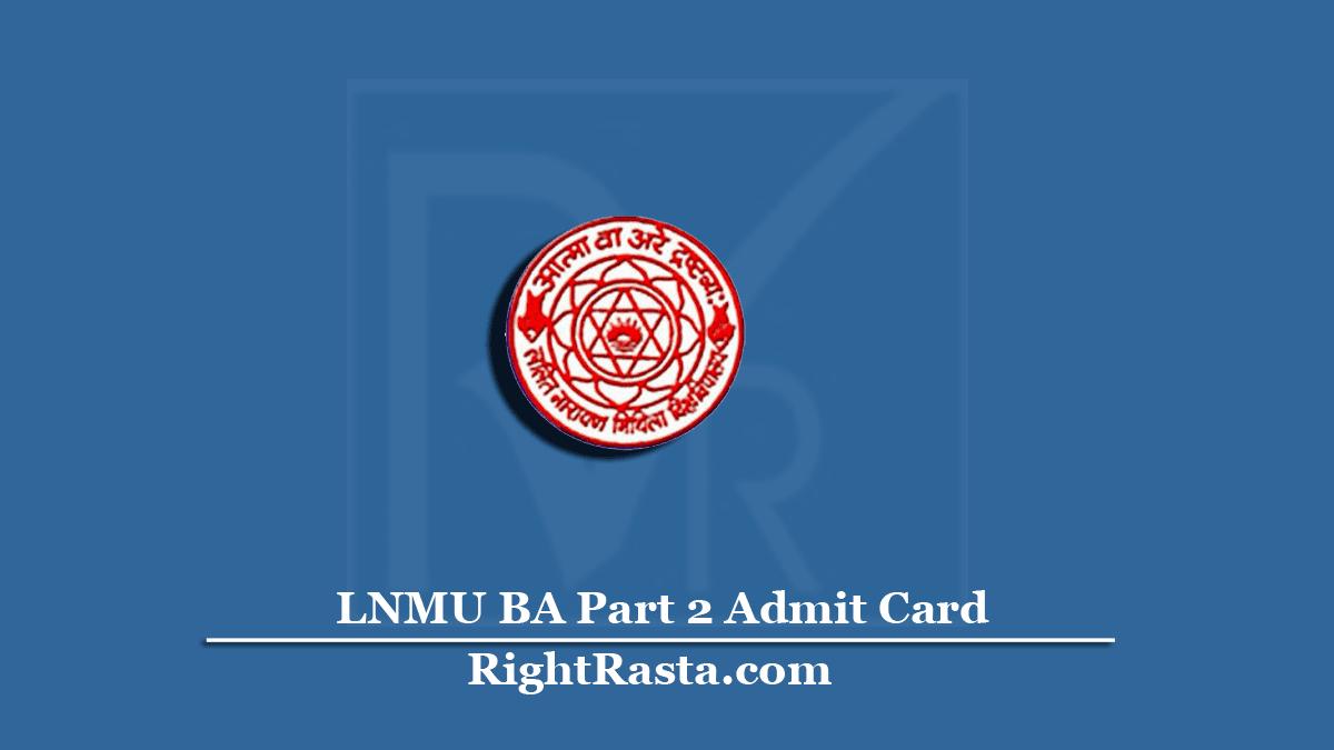 LNMU BA Part 2 Admit Card