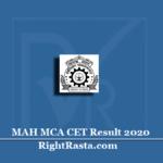 MAH MCA CET Result 2020 (Out)   Download Common Entrance Test Merit List