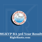MGKVP BA 3rd Year Result 2020 (Out) | Download B.A Final Results