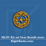 MLSU BA 1st Year Result 2020 (Out) | Download B.A First Year Results