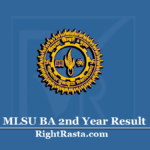 MLSU BA 2nd Year Result 2020 (Out) | Download B.A Part 2 Results