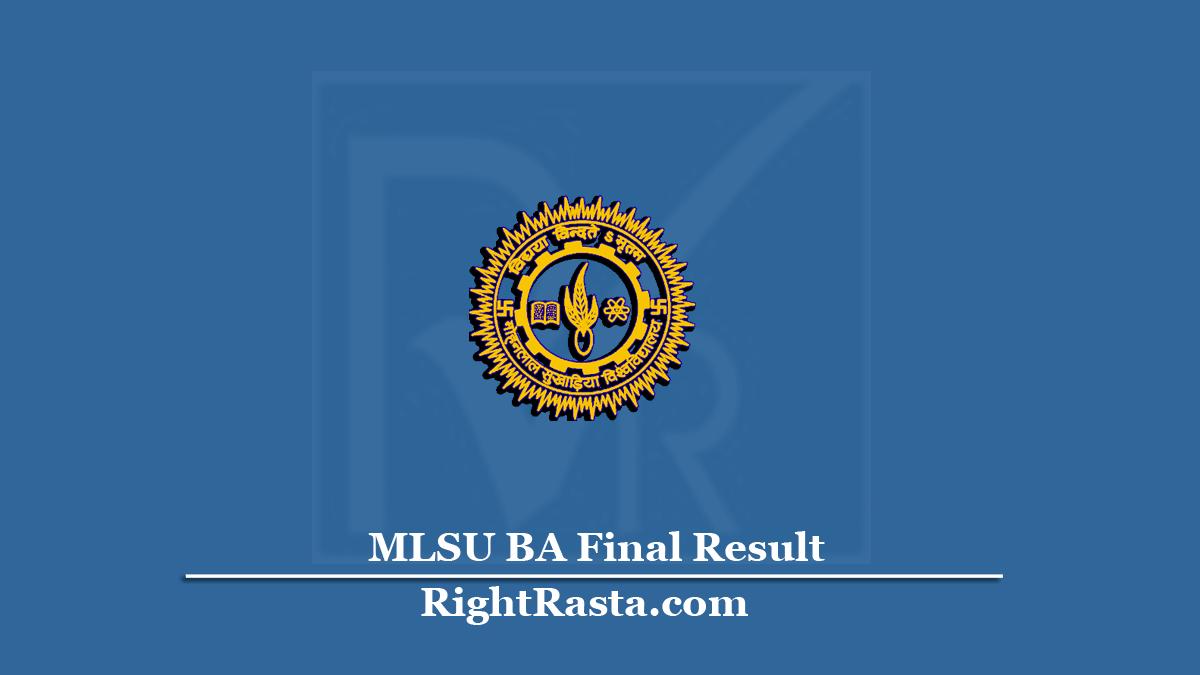 MLSU BA Final Result