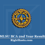 MLSU BCA 2nd Year Result 2020 (Out) | Download B.C.A. Part 2 Results