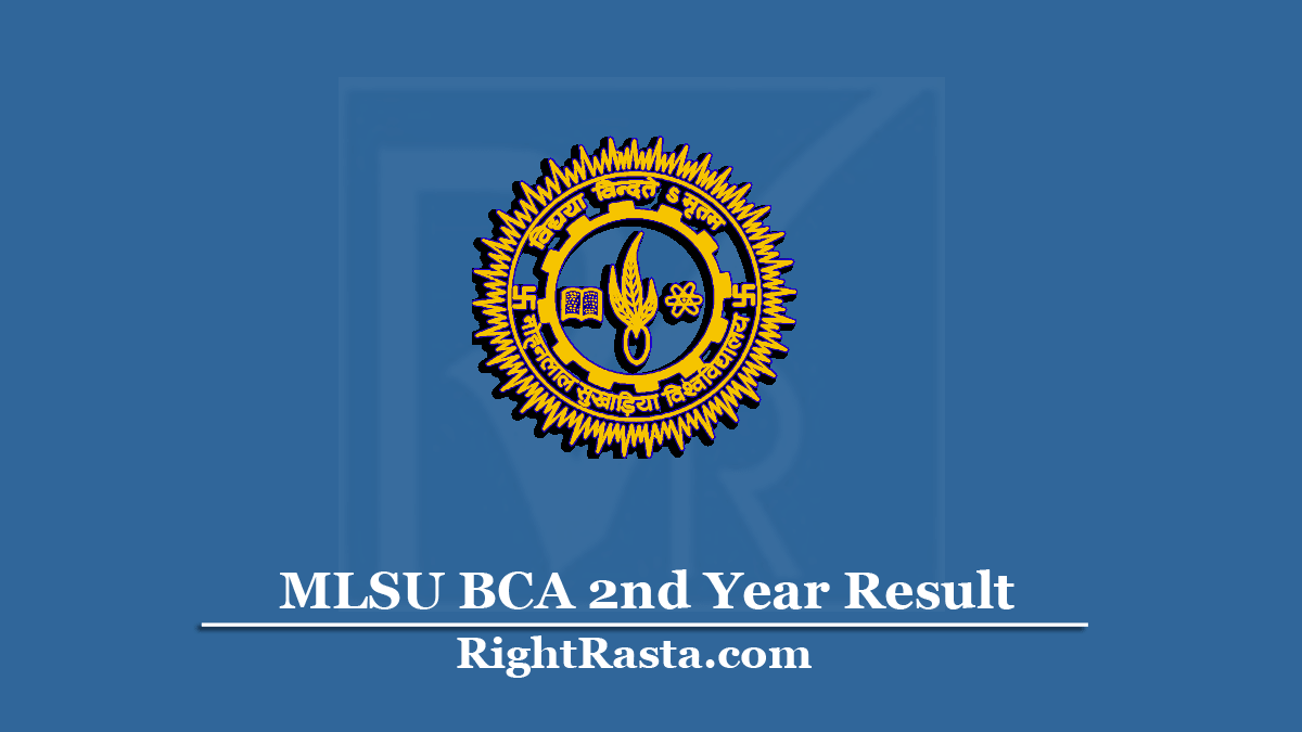MLSU BCA 2nd Year Result