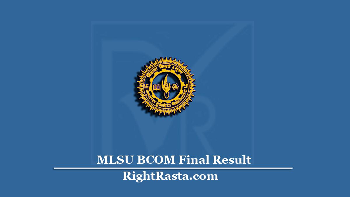 MLSU BCOM Final Result