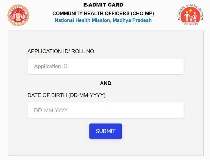 MP CHO Admit Card 2020