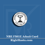 NBE FMGE Admit Card 2020 (Out) | Download December Session Hall Ticket