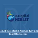 NIELIT Scientist B Answer Key 2020 (Out) | Download Series Wise Key PDF