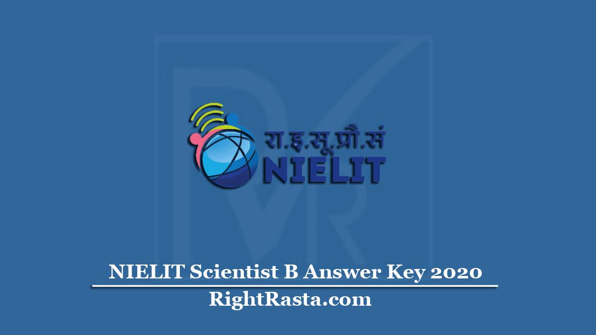 NIELIT Scientist B Answer Key