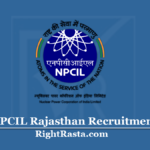 NPCIL Rajasthan Recruitment 2020 (Out) | Apply for 176 Various Posts