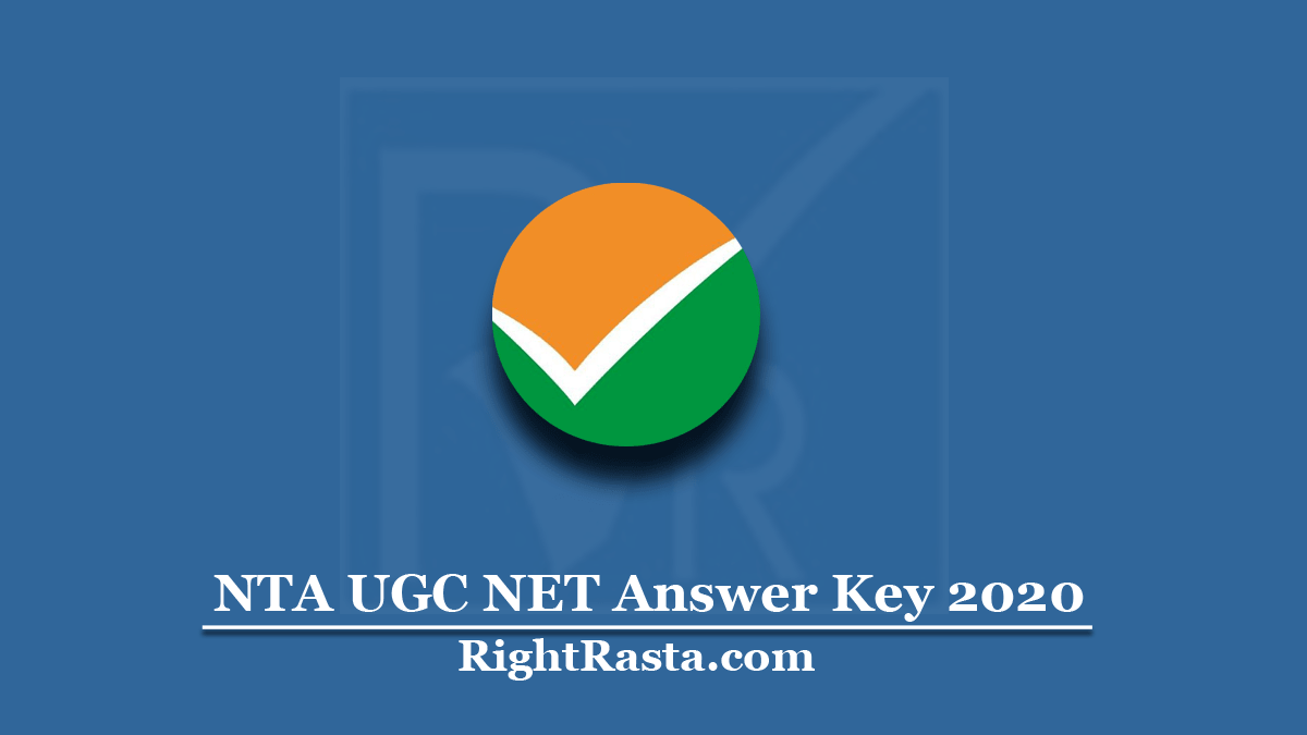 NTA UGC NET Answer Key 2020