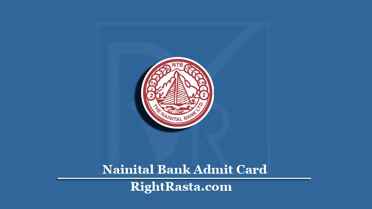 Nainital Bank PO Clerk Admit Card