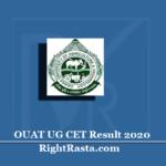OUAT UG CET Result2020 (Out) | Download Odisha UG Entrance Results
