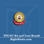 PDUSU BA 3rd Year Result 2020 (Out) | Shekhawati University B.A Final Results