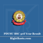 PDUSU BSC 3rd Year Result 2020 (Out) | Download B.SC Final (Part 3) Results