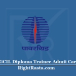 PGCIL Diploma Trainee Admit Card 2020 (Out) | Download Power Grid Hall Ticket