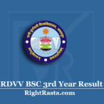 RDVV BSC 3rd Year Result 2020 (Out) | Download RDU B.Sc Final Results