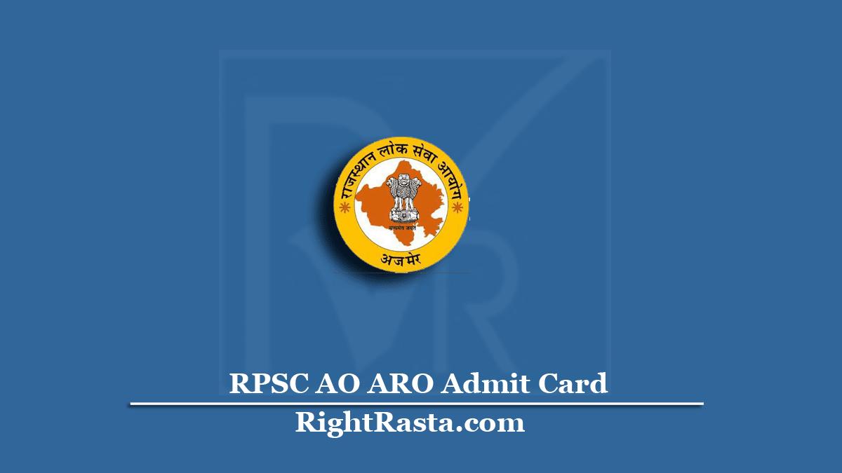 RPSC AO ARO Admit Card