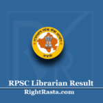 RPSC Librarian Result 2020 (Out) | Download Rajasthan Library Exam Merit List